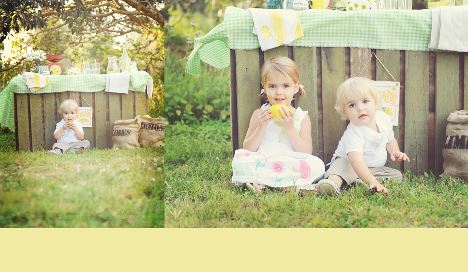 vintage lemonade stand photography boy and girl child