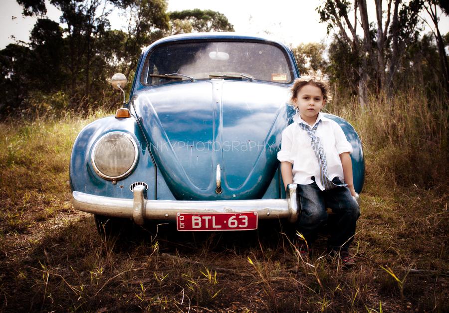photoshoot with vw beetle