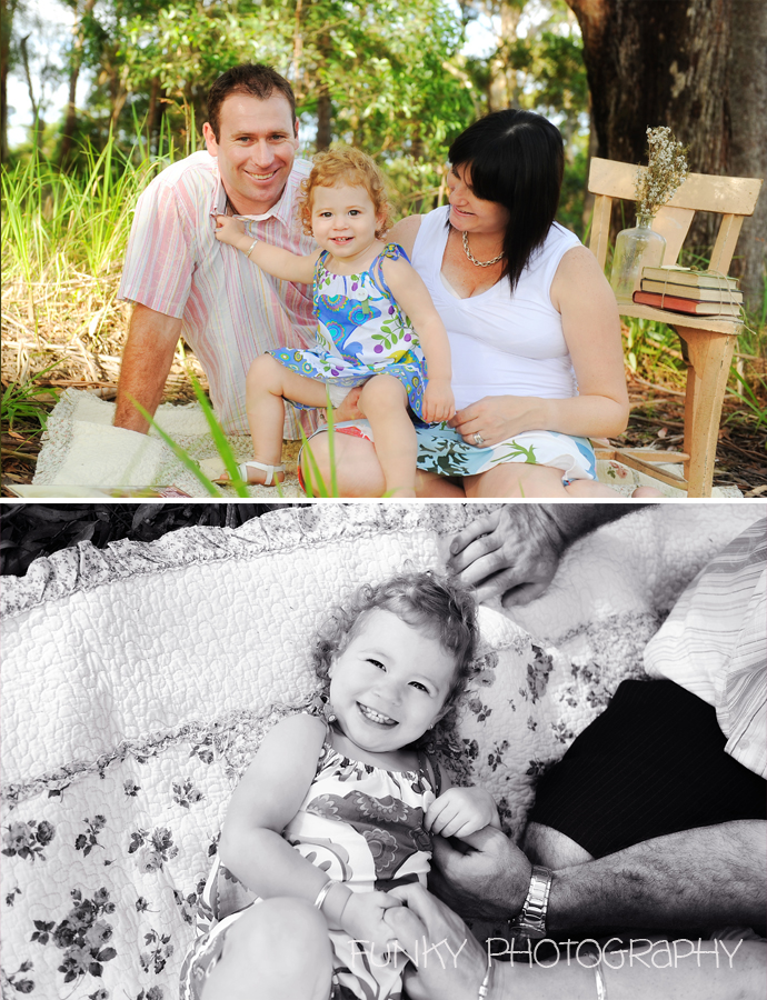 family portraits in woods at noosa by funky photography