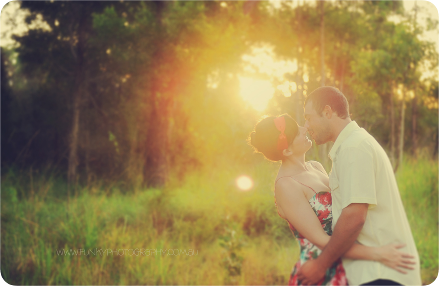 vintage style photography shoot with sunflare backlight