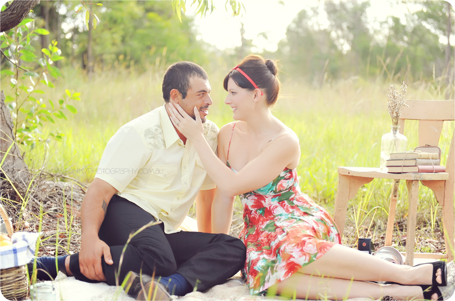 vintage picnic styled photo shoot session