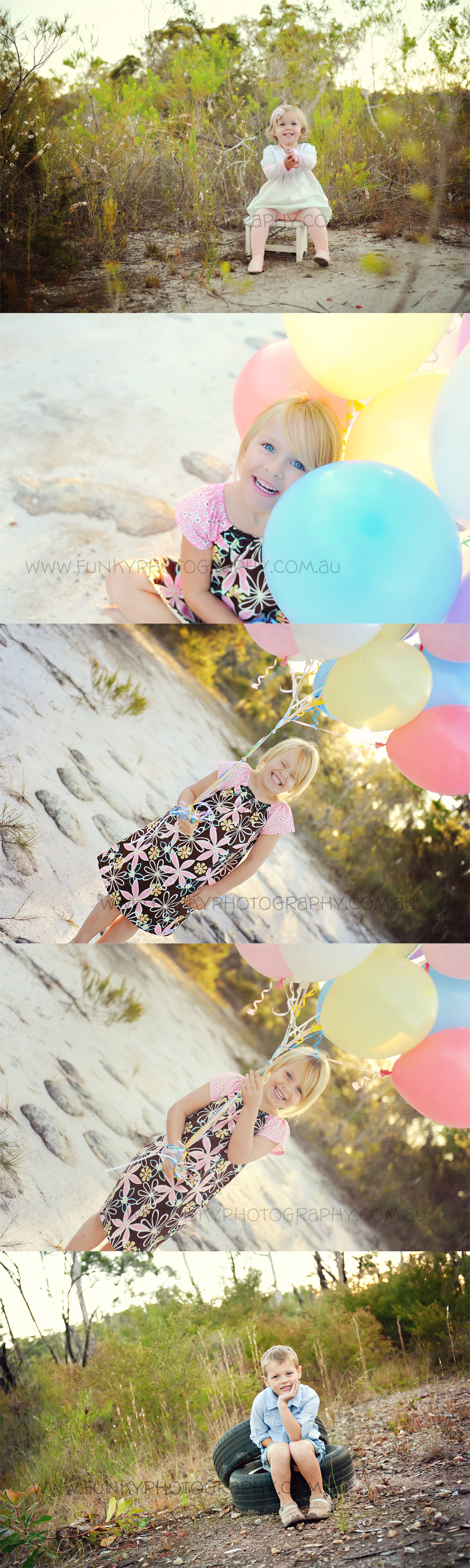 photos of children with balloons