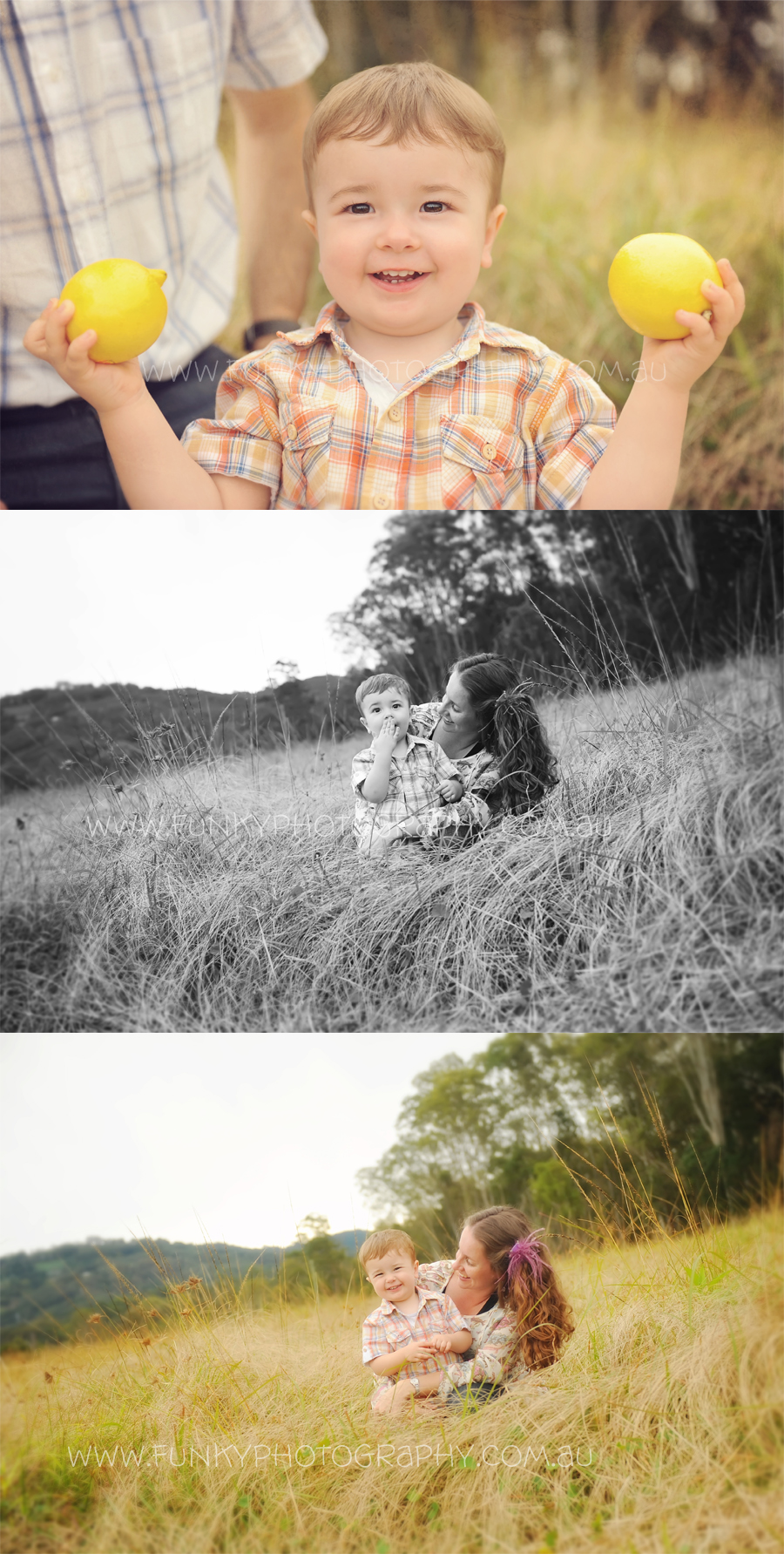 family photography in nambour on a farm mum and baby playing