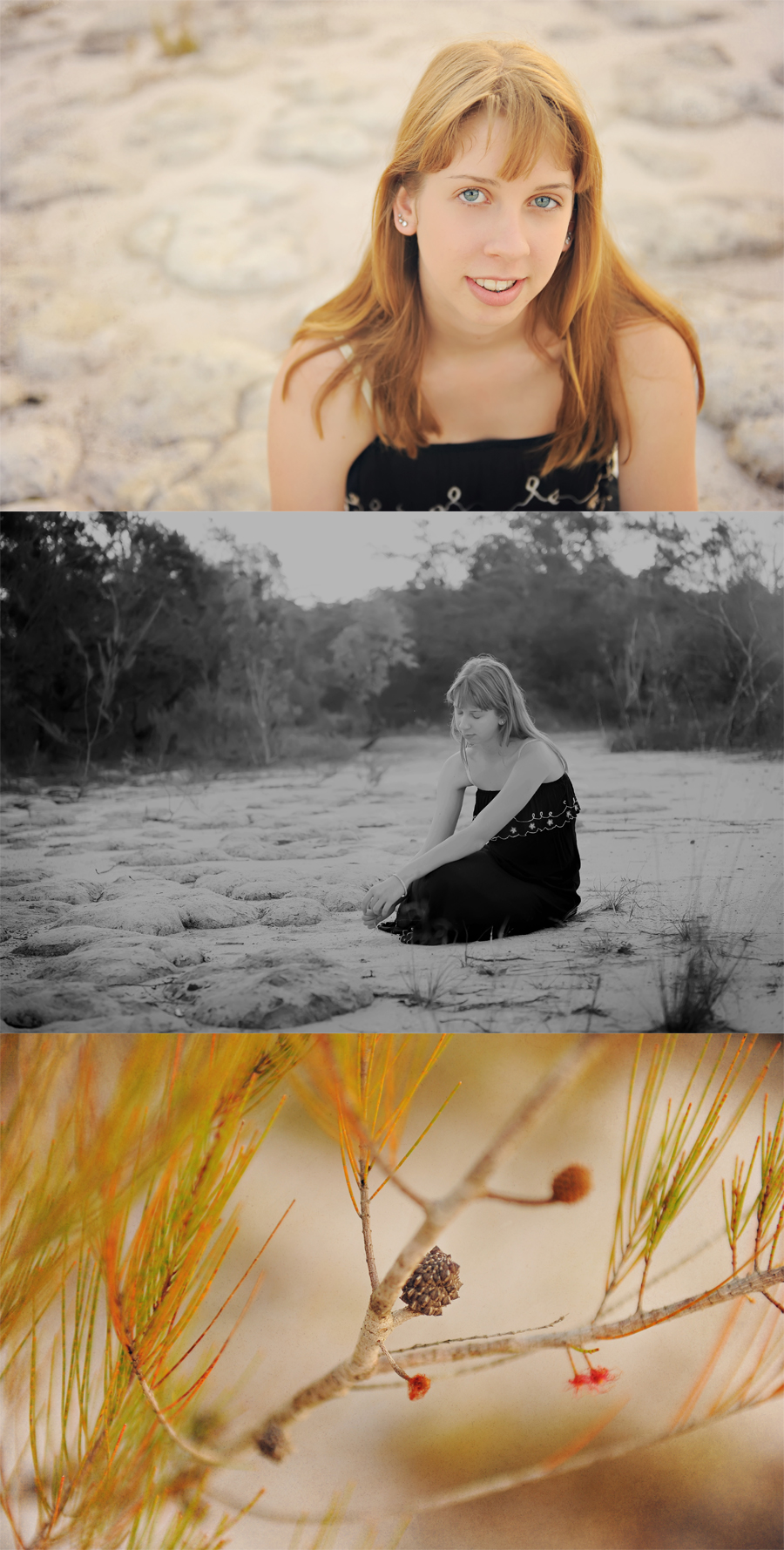 natural light photography session in bush land noosa heads
