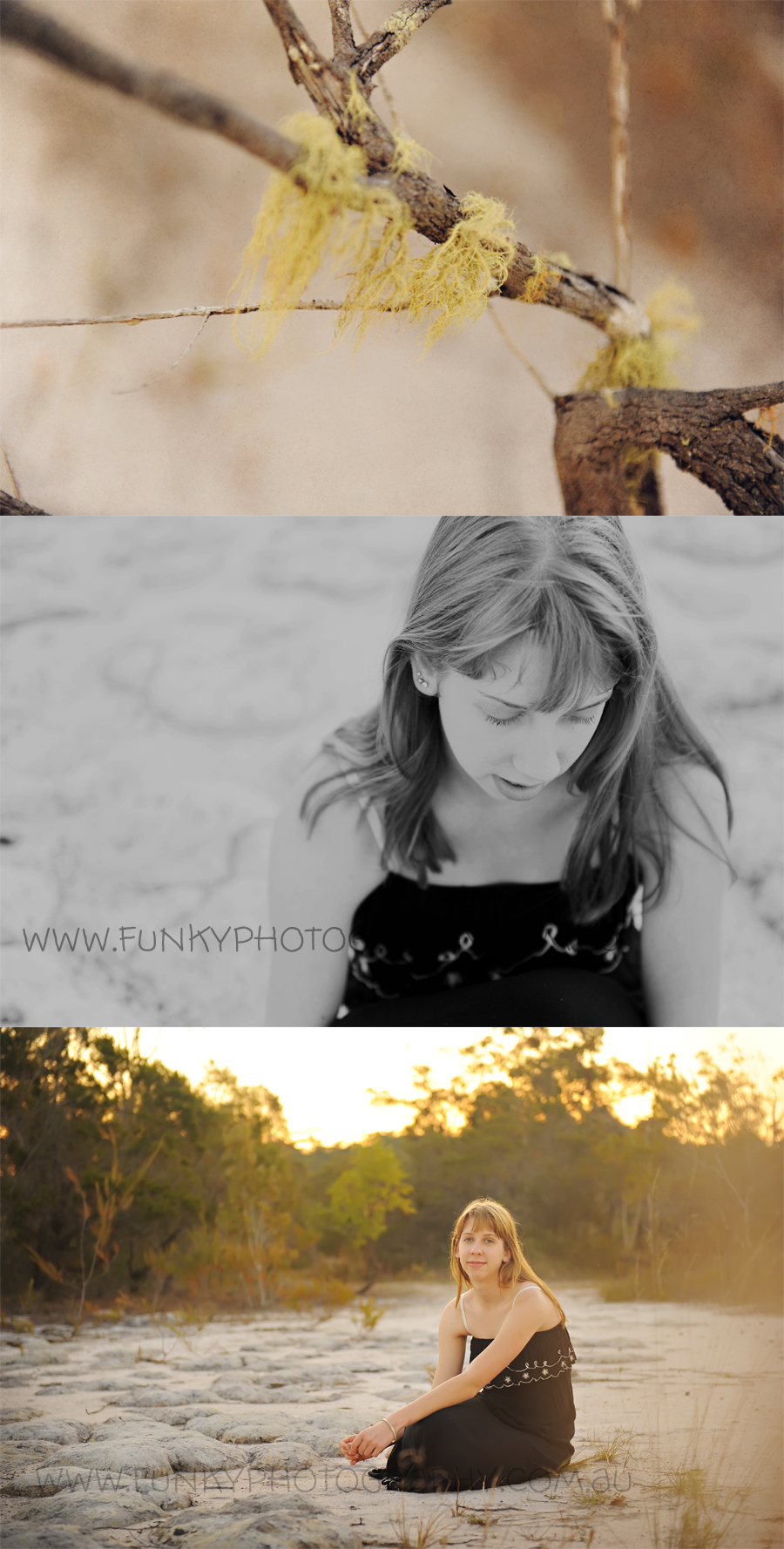 natural light photography session in bushland australia