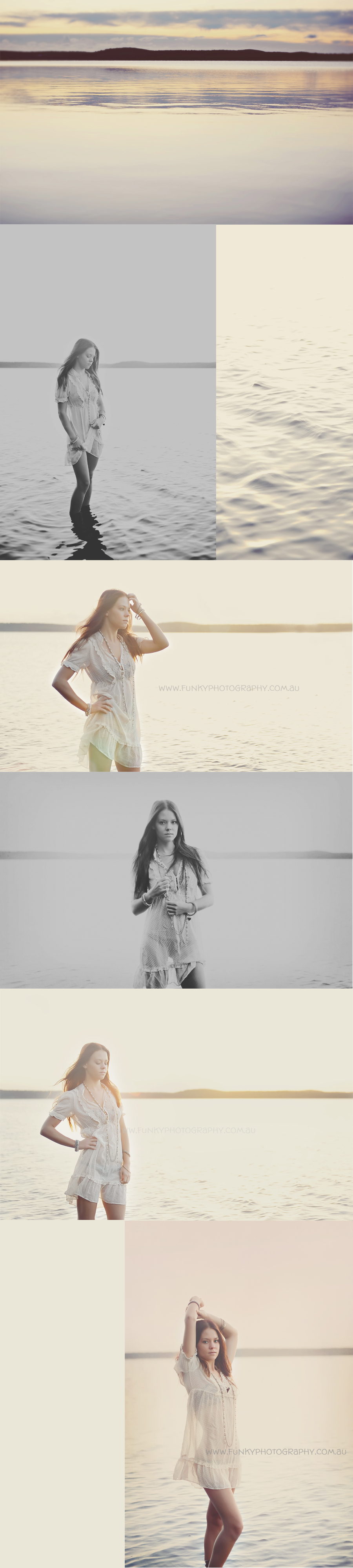seniors photography shoot in a lake vintage styled