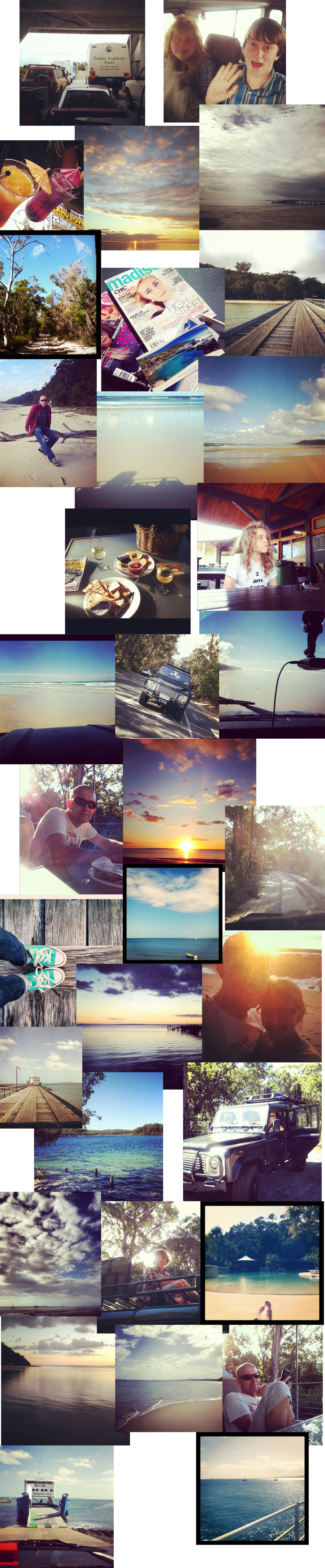 instagram holiday photos of fraser island kingfisher bay resort